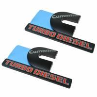 Ram 2500 3500 New Cummins Turbo Diesel Flat Black Emblem Nameplate OEM Set 2(Pair)